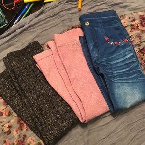 Girl's size 4/5 leggings bundle